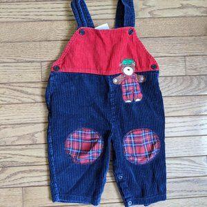 Vintage Teddy Bear Cords Overalls